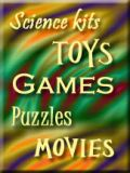 toys, games, puzzles, movies